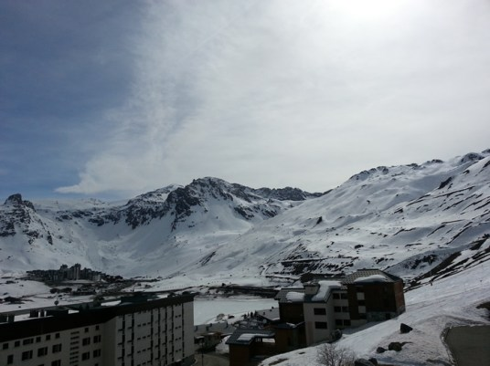 Tignes Le Lac from Le Bec Rouge balcony