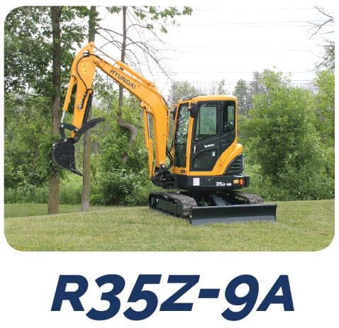 Hyundai Construction R35Z-9A Compact Excavators Tracey Road Equipment
