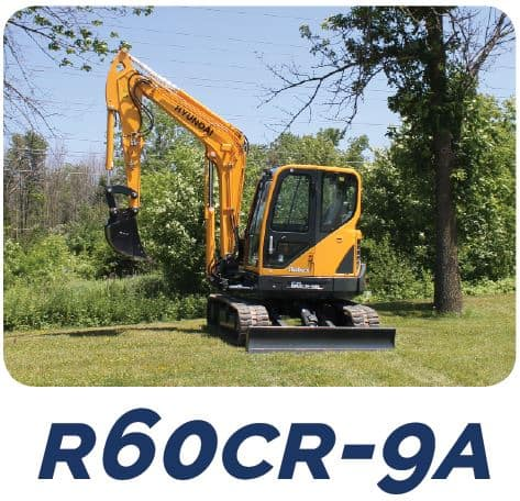 Hyundai Construction R60Z-9A Compact Excavators Tracey Road Equipment