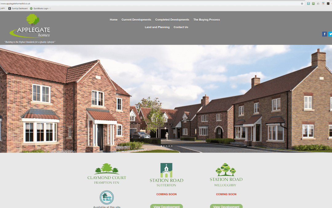 Applegate Homes website
