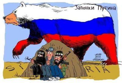 ภาพล้อเลียนการเข้าไปถล่มในซีเรียของรัสเซีย มีใครกันบ้างดูเลยครับ