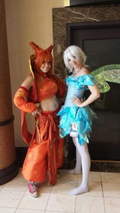 Cosplay fairy girls at ConCarolinas scifi con