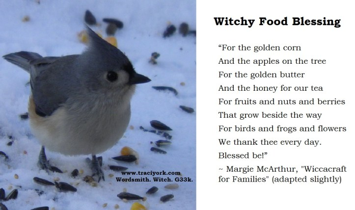 Witchy food blessing