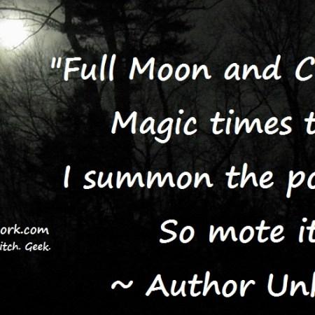 Full moon chant