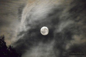 June 2015 full moon, a day late