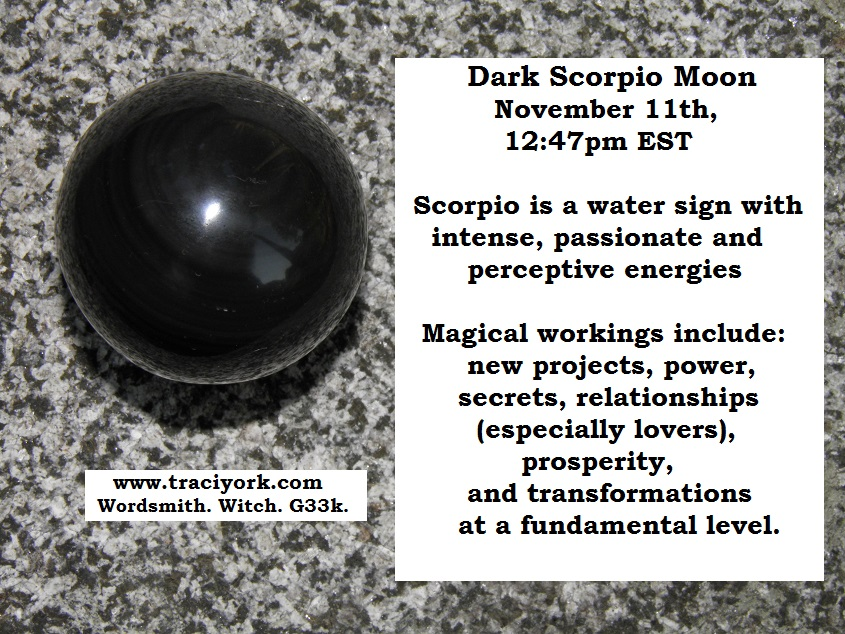 11. November 2015 - Dark moon in Scorpio