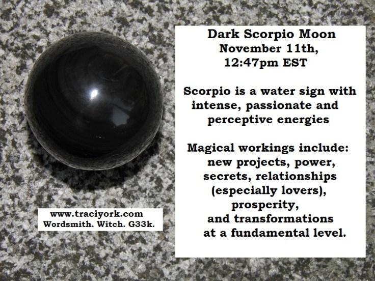 Dark Scorpio Moon