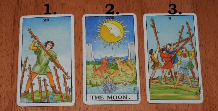 Tarot card reading June 2016, front