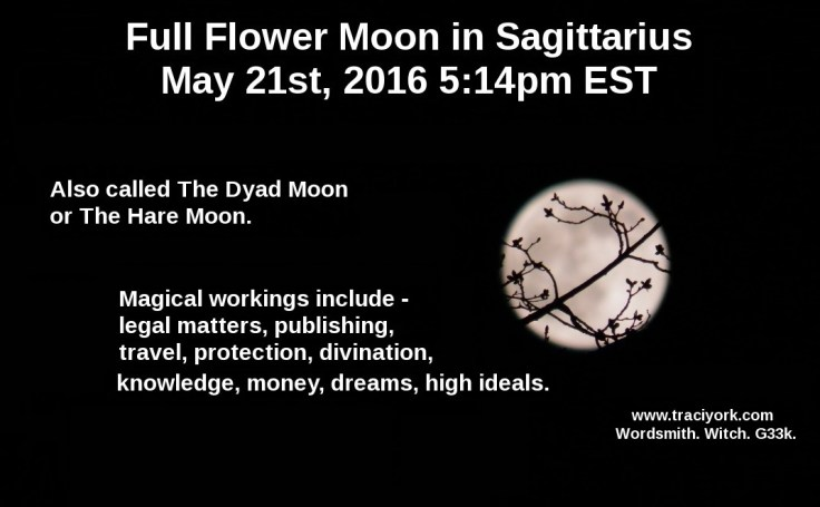 Full Flower Moon in Sagittarius