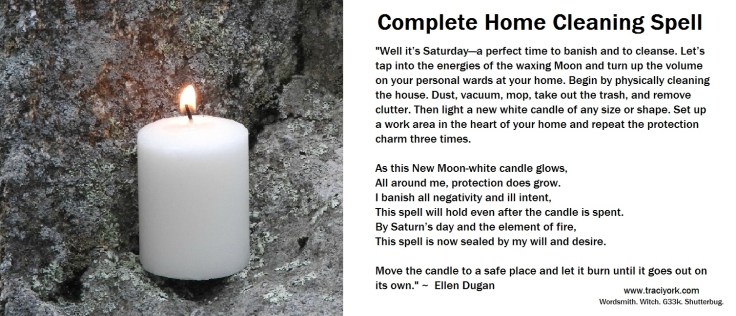 Home Cleaning Spell by Ellen Dugan
