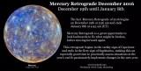 Mercury Retrograde December 2016