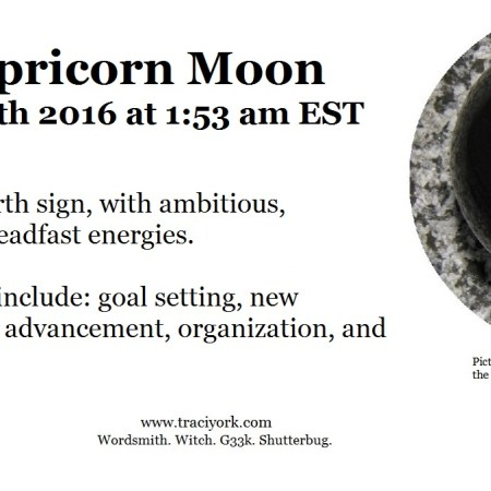December 2016 Dark Capricorn Moon