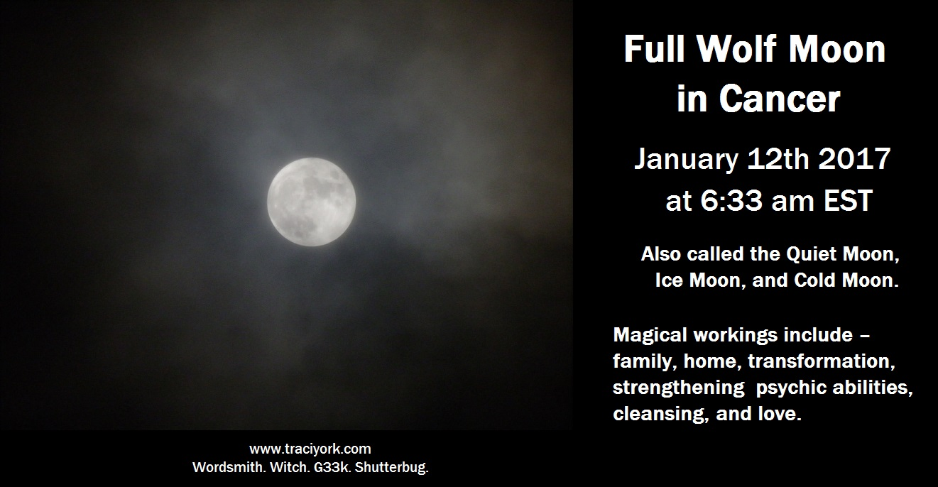 Full Wolf Moon in Cancer January 2017