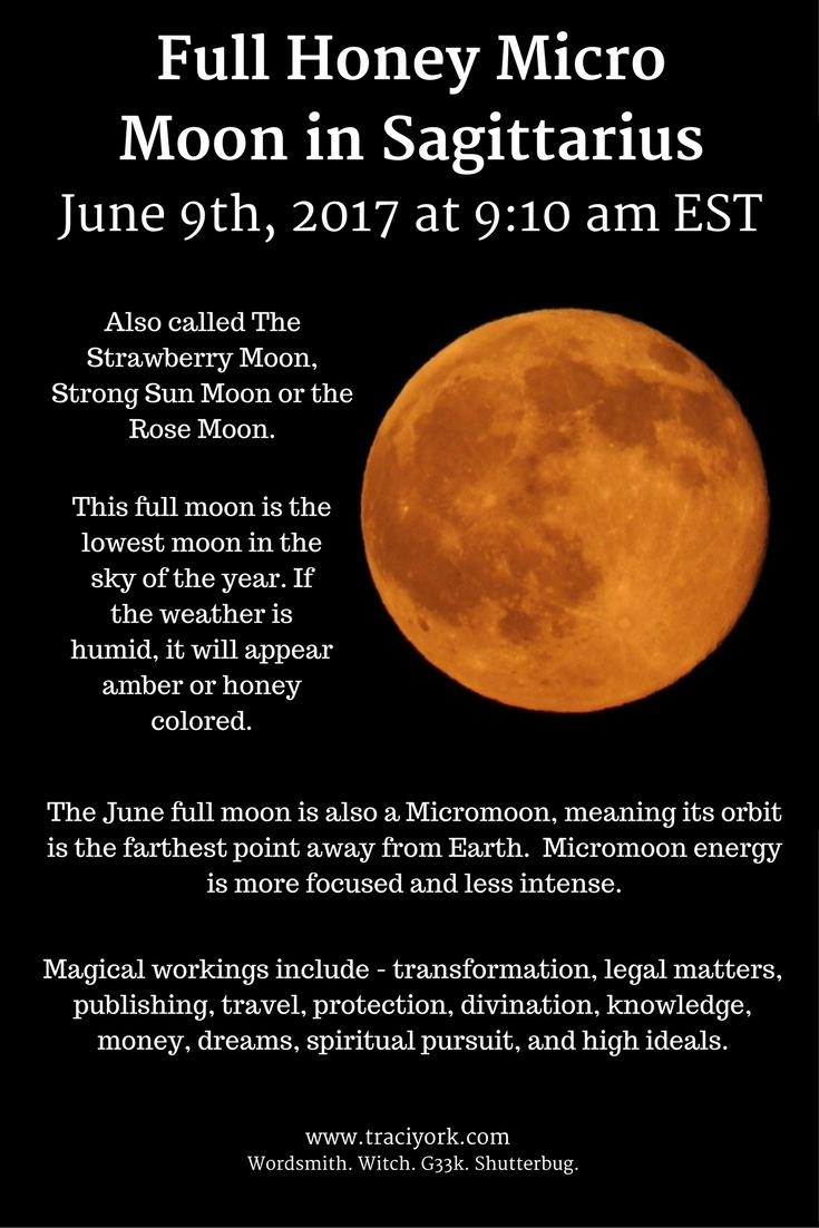 Full Honey Micro Moon in Sagittarius