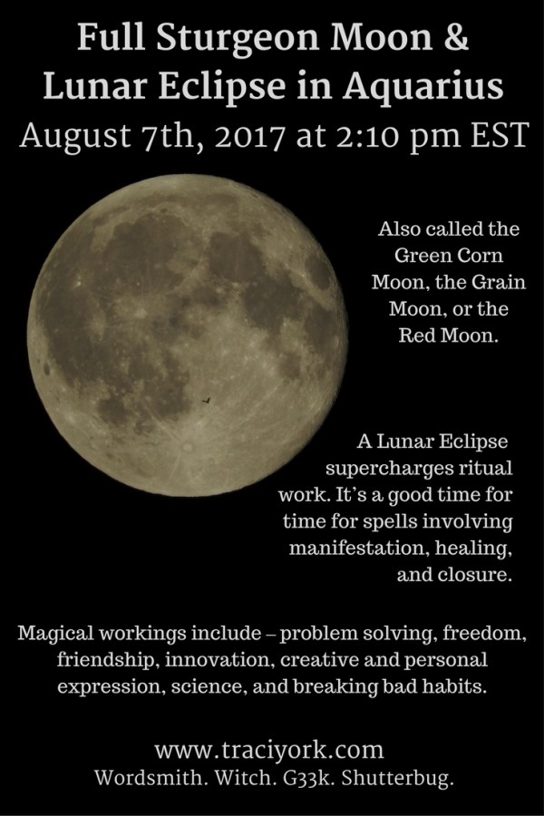 Full Sturgeon Moon in Aquarius & Lunar Eclipse