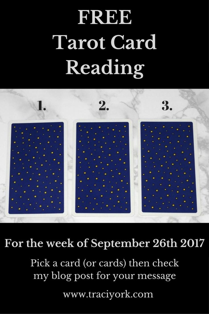 September 26th 2017 FREE Tarot Card Reading