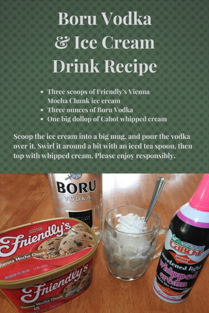 Boru Vodka & Ice Cream Drink Recipe