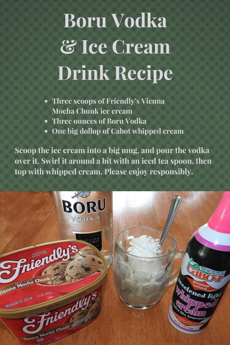 Boru Vodka & Ice Cream Drink Recipe