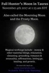 Full Mourning Moon in Taurus November 2017