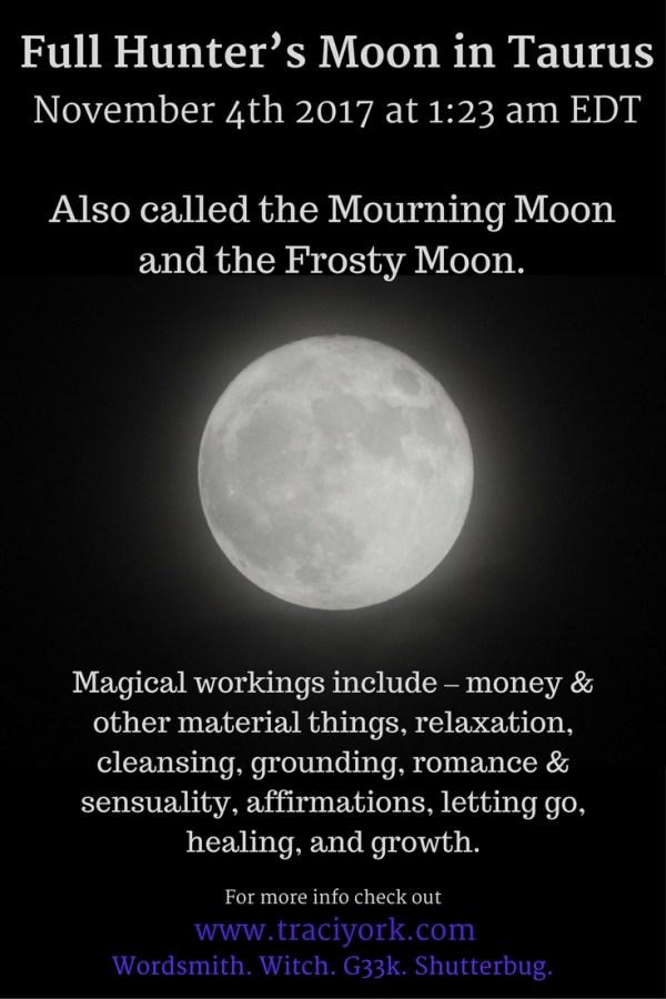 Full Mourning Moon in Taurus November 2017