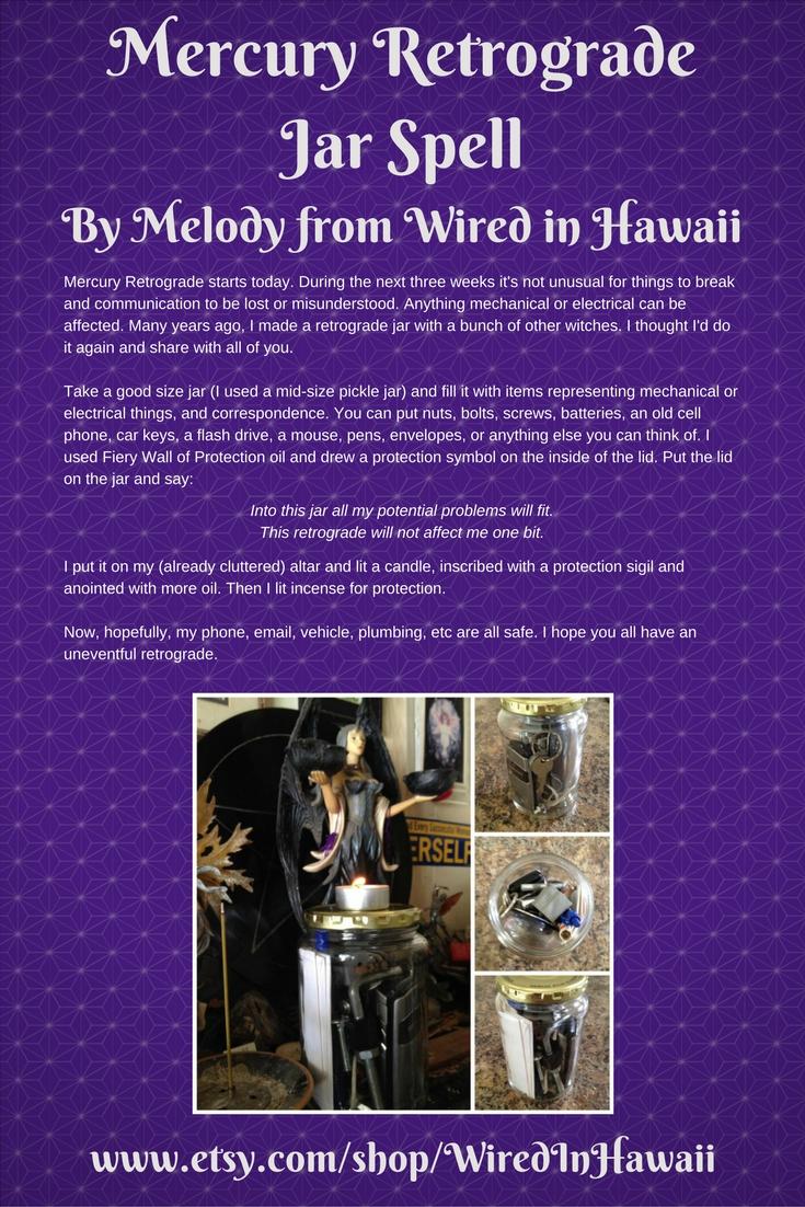 Melody's Mercury Retrograde Jar Spell