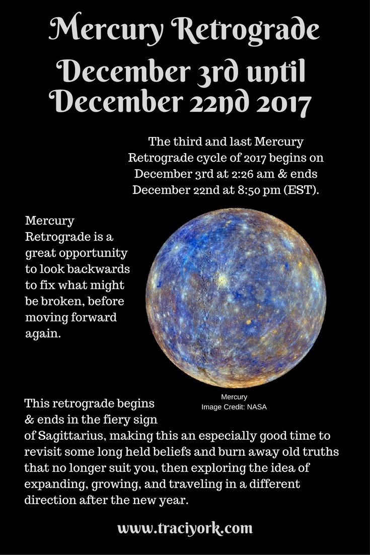 Mercury Retrograde December 3rd
