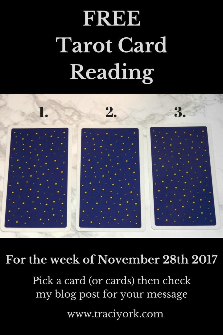 November 28th 2017 Tarot Blog graphic