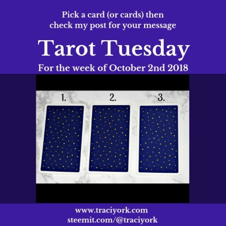 October 2nd 2018 Tarot Tuesday blog thumbnail