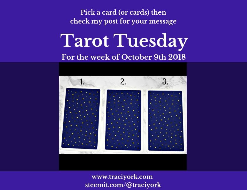 October 9th 2018 Tarot Tuesday blog thumbnail