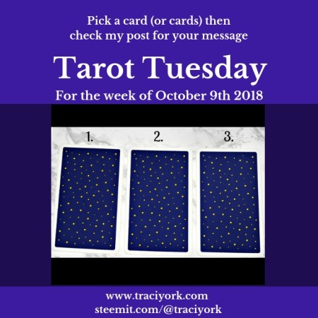 October 9th 2018 Tarot Tuesday blog thumbnail