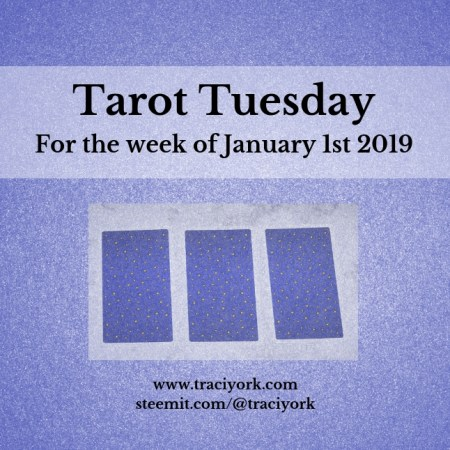 January 1 2019 Tarot Tuesday new years colors blog thumbnail