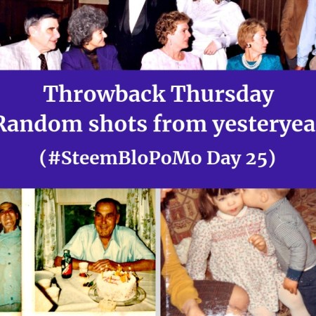 Throwback Thursday - Random shots from yesteryear (#SteemBloPoMo Day 25) blog thumbnail
