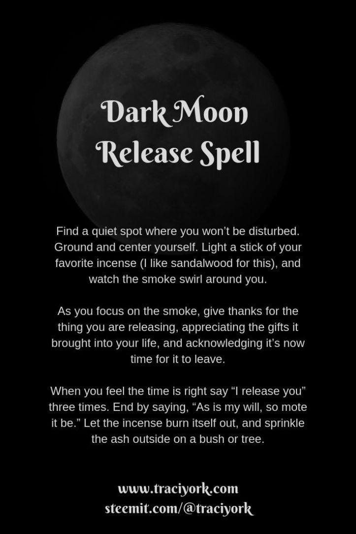 Dark Moon Release Spell 2019