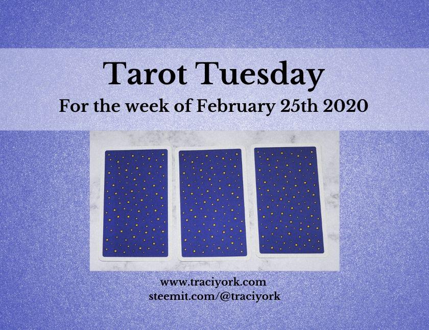 February 25th 2020, Tarot Tuesday thumbnail