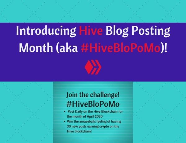Introducing Hive Blog Posting Month (aka #HiveBloPoMo)!