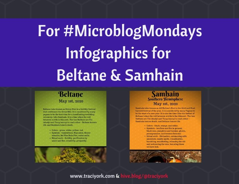 MicroblogMondays - Infographics for Beltane & Samhain blog thumbnail