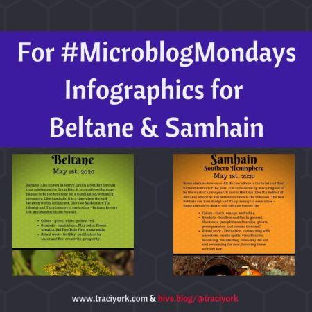 MicroblogMondays - Infographics for Beltane & Samhain blog thumbnail