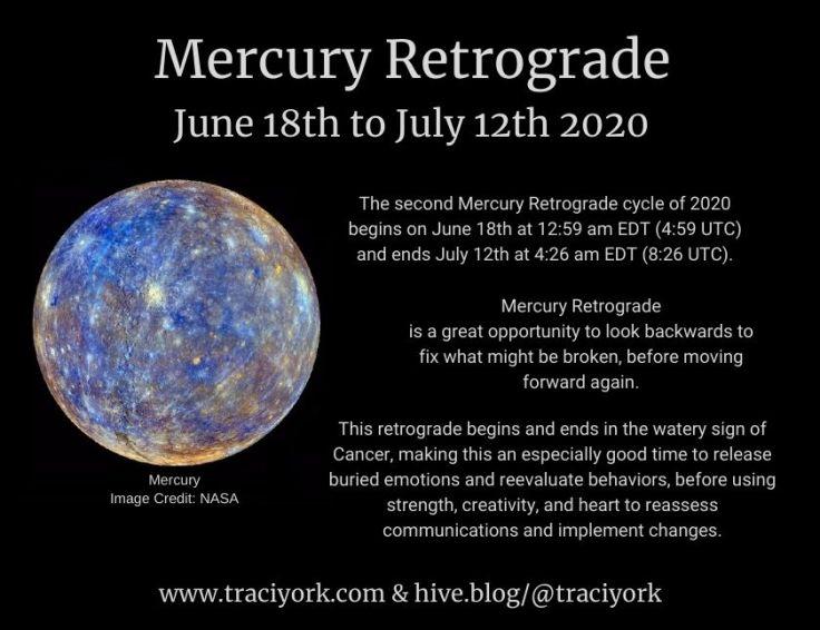 Mercury Retrograde June 2020 Instagram version