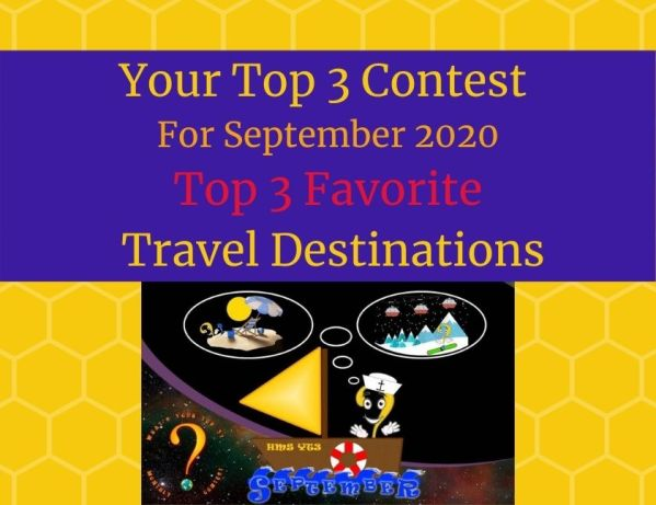 September 2020 Top 3 Favorite Travel Destination blog thumbnail