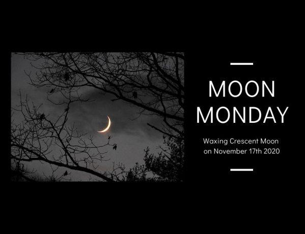 Crescent Moon on November 17th 2020 blog thumbnail