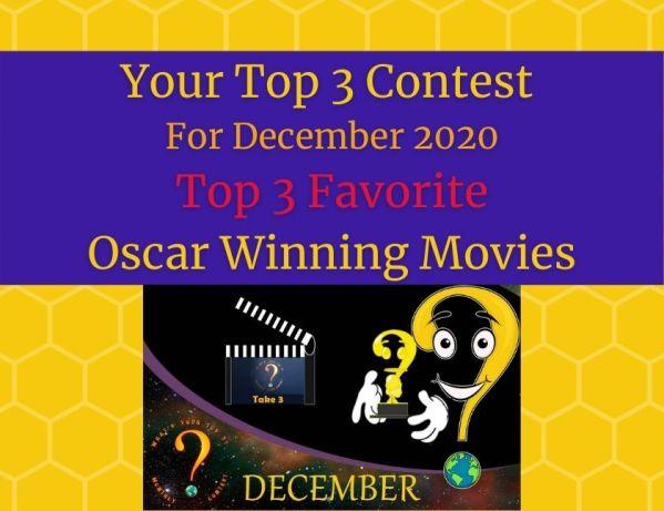 December 2020 Top 3 Favorite Oscar Winning Movies blog thumbnail