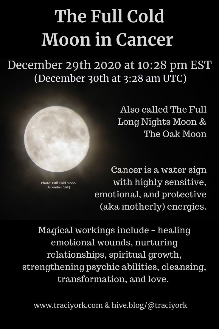December 29 Full Cold moon in Cancer
