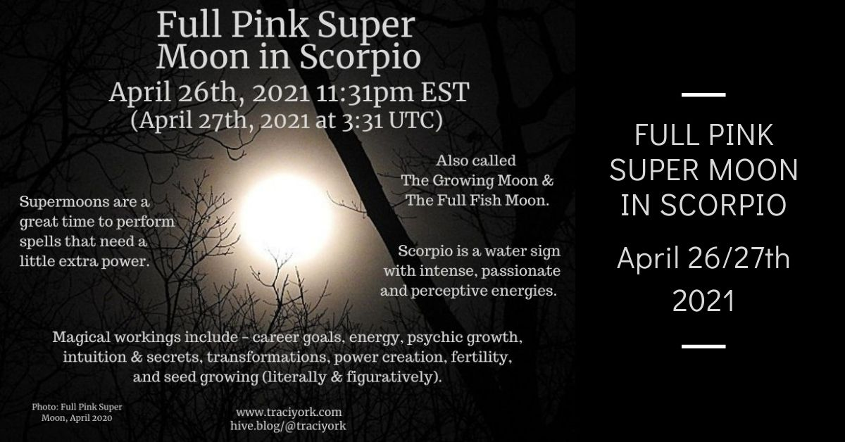 Full Pink Super Moon in Scorpio, April 2021 blog thumbnail