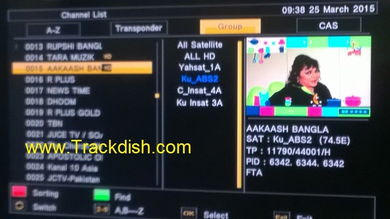 59 TV Channels Free-to-Air from ABS2 Satellite ( ABS Free