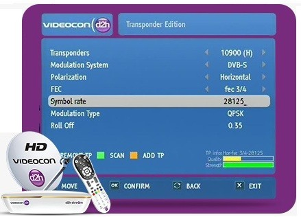Videocon D2H Frequency 2019   Trackdish com