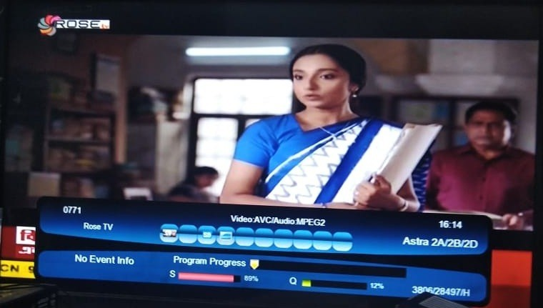 Rose TV added on Insat4 A Satellite - Know Frequency and Satellite