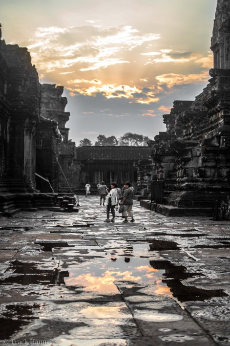 Angkor Wat just after sunrise