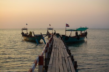 The ferry pier of Koh Tonsay