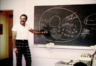 Teacher in classroom at Sagehill school, CFS Dana Saskatchewan.