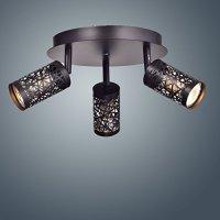 YOBO Lighting Vintage 3 Lights GU10 Ceiling Spot Track Light, Oil Rubbed Bronze